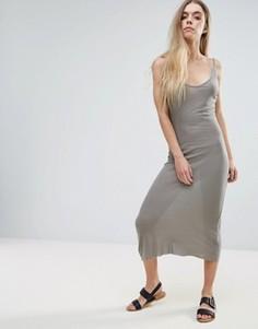 Длинное платье-майка Brave Soul - Зеленый