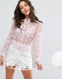 Рубашка с выжженным узором Paul & Joe Sister - Розовый
