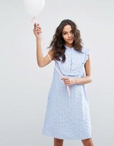 Платье с оборкой на груди Paul & Joe Sister - Синий