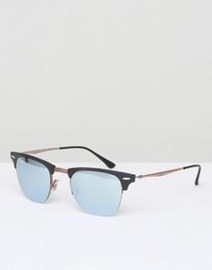Солнцезащитные очки Клабмастер в черной оправе Ray-Ban - Черный
