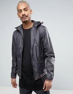Темно-серая куртка с капюшоном из легкого рип-стопа Napapijri Augusta - Серый