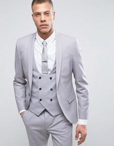 Супероблегающий пиджак Noose & Monkey - Серый