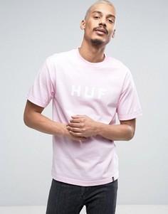 Футболка с логотипом HUF - Розовый
