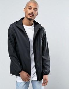 Черная короткая базовая водонепроницаемая куртка с капюшоном и скрытой молнией Rains - Черный