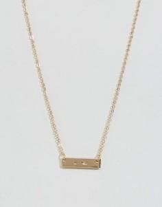 Ожерелье с металлической пластиной DesignB - Золотой