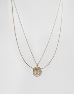 Ярусное ожерелье Monki Sovereign - Золотой