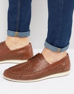 Плетеные туфли на шнуровке Red Tape - Рыжий