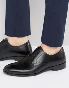 Черные кожаные строгие туфли на шнуровке Red Tape - Черный