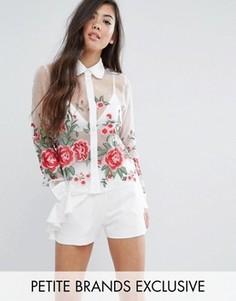 Рубашка с цветочной вышивкой Fashion Union Petite - Мульти