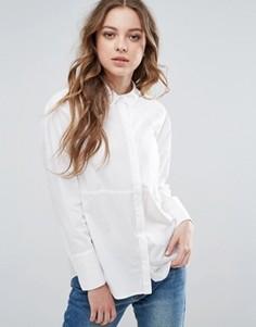 Однотонная рубашка Select Linda - Белый Selected
