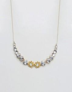 Золотистое ожерелье с эффектной отделкой Johnny Loves Rosie - Золотой