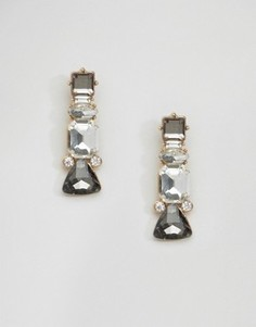 Серьги-подвески с серыми камнями Johnny Loves Rosie - Серый