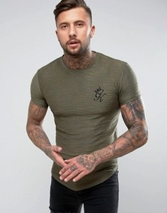 Обтягивающая трикотажная футболка Gym King - Зеленый