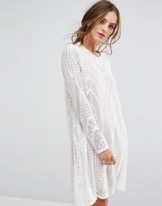 Кружевное платье BCBG MAXAZRIA - Белый
