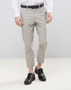 Песочные укороченные брюки скиини New Look - Stone