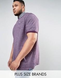 Фиолетовое поло с контрастным воротником Duke PLUS - Фиолетовый