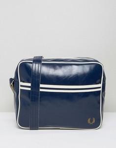 Синяя классическая сумка через плечо Fred Perry - Синий
