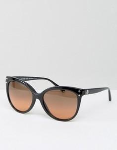 Классические солнцезащитные очки кошачий глаз с контрастными стеклами Michael Kors - Черный