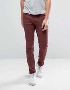 Бордовые джинсы скинни Waven - Красный