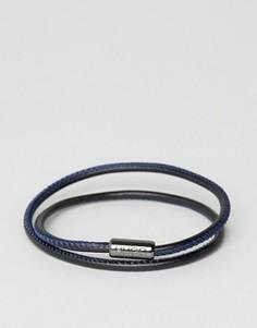 Черно-синий кожаный браслет в несколько оборотов BOSS by Hugo Boss - Черный