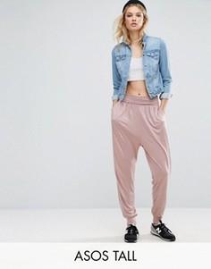 Трикотажные гаремные брюки ASOS TALL - Розовый