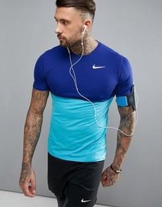 Синяя футболка Nike Running Racer 644396-418 - Синий