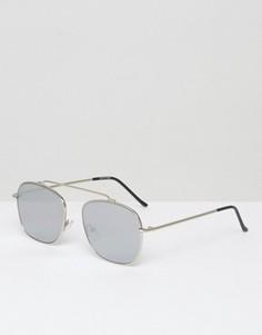 Квадратные солнцезащитные очки с зеркальными стеклами Spitfire - Серебряный