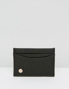 Черный кошелек для карт с узором под змеиную кожу Mi-Pac - Черный