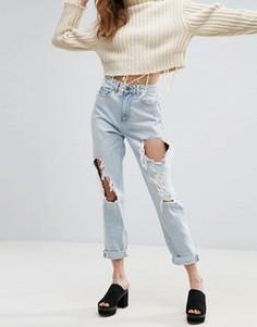 Светлые рваные джинсы в винтажном стиле ASOS ORIGINAL - Синий