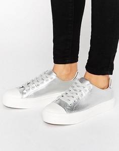 Кроссовки на шнуровке с мягким носком Blink - Серебряный