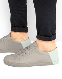 Серые кроссовки с контрастным задником ASOS - Серый
