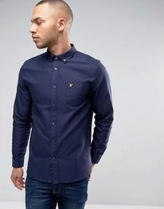 Темно-синяя оксфордская рубашка на пуговицах с логотипом-орлом Lyle & Scott - Темно-синий