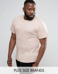 Меланжевая трикотажная футболка D-Struct PLUS - Розовый
