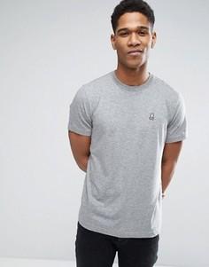Меланжевая футболка с круглым вырезом Psycho Bunny - Серый
