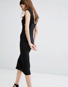 Платье миди с открытой спиной и ремешками Cheap Monday - Черный