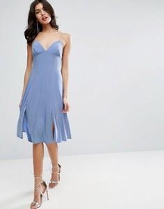 Платье-комбинация миди на бретелях ASOS - Оранжевый