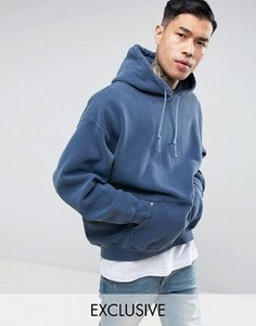 Oversize-худи темно-синего цвета Reclaimed Vintage Inspired - Темно-синий