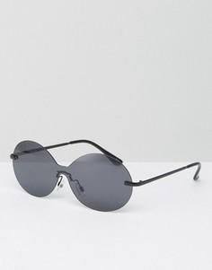 Овальные солнцезащитные очки-маска ASOS - Серый