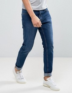 Синие узкие джинсы из органического хлопка Dr Denim Clark - Синий