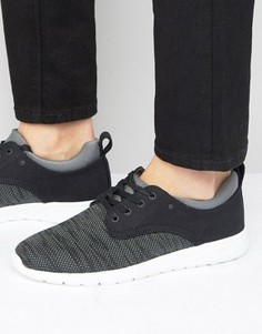 Черные кроссовки с контрастной отделкой New Look - Черный
