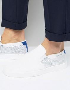 Кроссовки-слипоны Calvin Klein Ives - Белый
