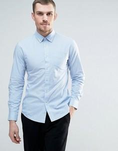 Рубашка в клеточку с воротником на пуговицах Celio - Темно-синий