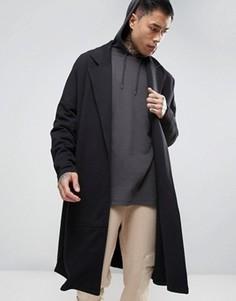 Длинное легкое трикотажное пальто в стиле oversize ASOS - Черный