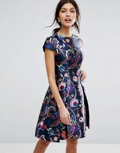 Приталенное платье Ted Baker - Мульти