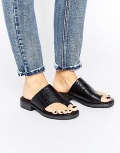 Черные кожаные сандалии на каблуке Vagabond Ivy - Черный