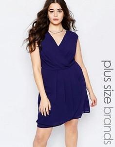 Платье с запахом спереди Lovedrobe Plus - Темно-синий