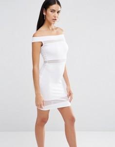 Облегающее платье с открытыми плечами Missguided - Белый