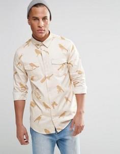 Рубашка WeSC Gambrill AOP - Белый