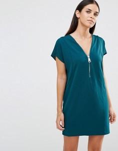 Oversize-платье с молнией спереди AX Paris - Зеленый