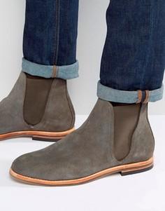 Замшевые ботинки челси Hudson London Eldon - Серый